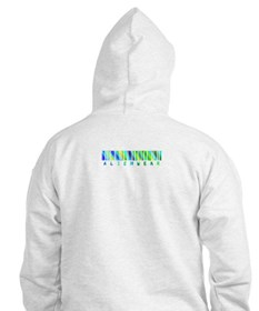 Double Trouble Lime & Blue Hoodie