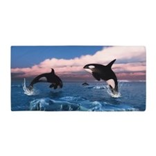Killer Whales In The Arctic Ocean Beach Towel