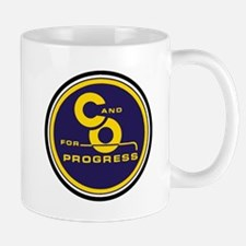 C & O for progress sign Mugs