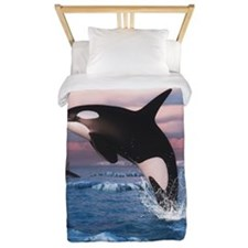 Killer Whales In The Arctic Ocean Twin Duvet