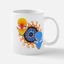 Bouble Trouble Orange & Lite Blue Mug