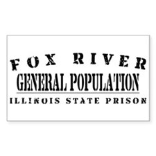 General Population - Fox River Sticker (Rectangula