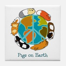 Pigs on Earth Tile Coaster