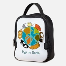 Pigs on Earth Neoprene Lunch Bag