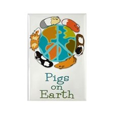 Pigs on Earth Rectangle Magnet
