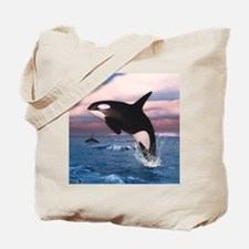 Killer Whales In The Arctic Ocean Tote Bag