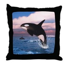 Killer Whales In The Arctic Ocean Throw Pillow