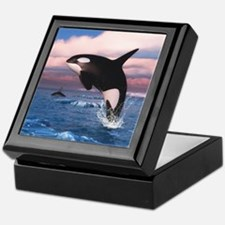Killer Whales In The Arctic Ocean Keepsake Box