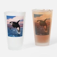 Killer Whales In The Arctic Ocean Drinking Glass