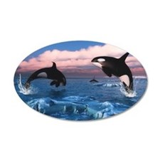 Killer Whales In The Arctic Ocean Wall Decal