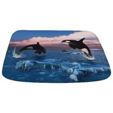 Killer Whales In The Arctic Ocean Bathmat