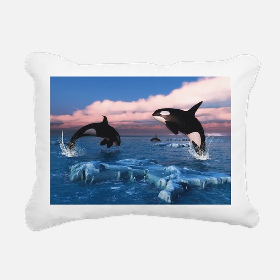 Killer Whales In The Arctic Ocean Rectangular Canv