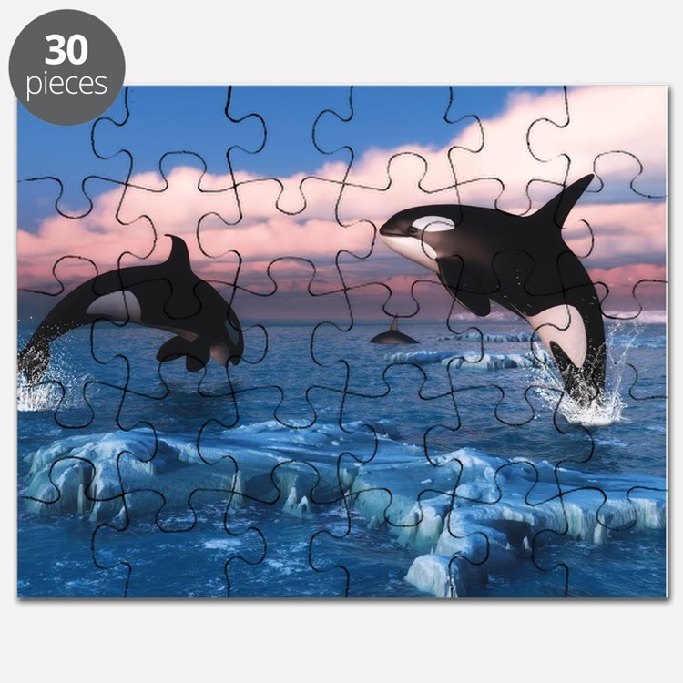 Killer Whales In The Arctic Ocean Puzzle