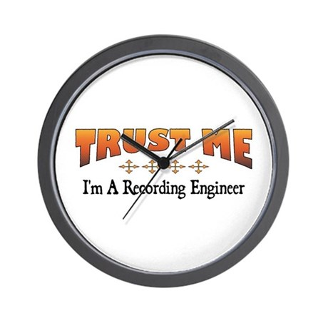 Trust Recording Engineer Wall Clock
