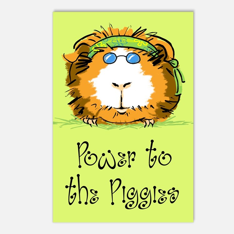 Power to the Piggies Postcards (Package of 8)