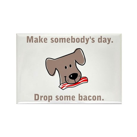Drop Some Bacon Rectangle Magnet (10 pack)