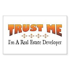 Trust Real Estate Developer Rectangle Decal
