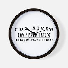 On The Run - Fox River Wall Clock