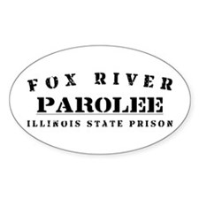 Parolee - Fox River Oval Decal