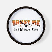 Trust Racquetball Player Wall Clock