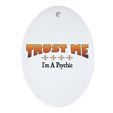 Trust Psychic Oval Ornament