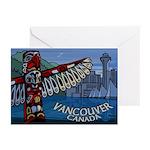 Vancouver Souvenir Art Greeting Cards 10 Pk