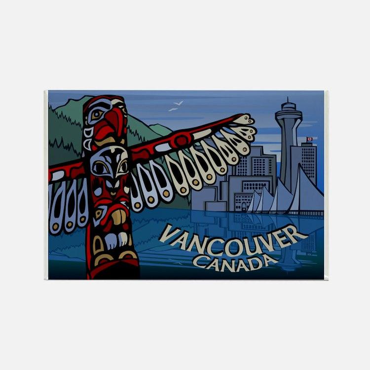 Vancouver BC Souvenir Art Fridge Magnet