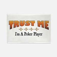 Trust Poker Player Rectangle Magnet