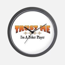 Trust Poker Player Wall Clock