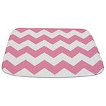 Chevron Zigzag Pink Bathmat