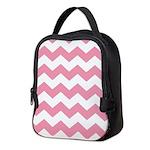 Chevron Zigzag Pink Neoprene Lunch Bag