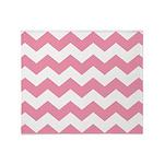 Chevron Zigzag Pink Throw Blanket