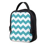 Chevron Zigzag Teal Neoprene Lunch Bag