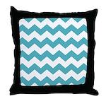 Chevron Zigzag Teal Throw Pillow