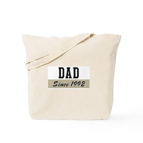 Dad since 1992 (brown) Tote Bag