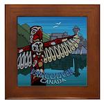 Vancouver Souvenir Framed Tile Vancouver BC Gifts