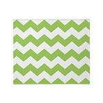 Chevron Zigzag Green Throw Blanket
