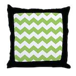 Chevron Zigzag Green Throw Pillow