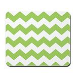 Chevron Zigzag Green Mousepad