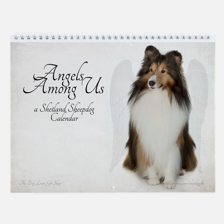 Angel Shelties Wall Calendar