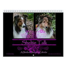 Sheltie Talk Wall Calendar