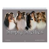 Shetland sheepdog Wall Calendars