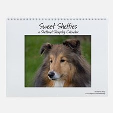 Cute Miniature collie Wall Calendar