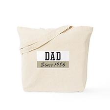 Dad since 1986 (brown) Tote Bag