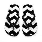 Chevron Zigzag Black Flip Flops