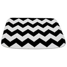 Chevron Zigzag Black Bathmat