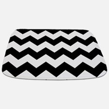 Chevron Zigzag Black Bathmat