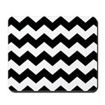 Chevron Zigzag Black Mousepad