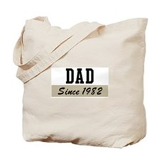 Dad since 1982 (brown) Tote Bag