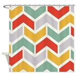 Chevron Tribal Zigzag Shower Curtain